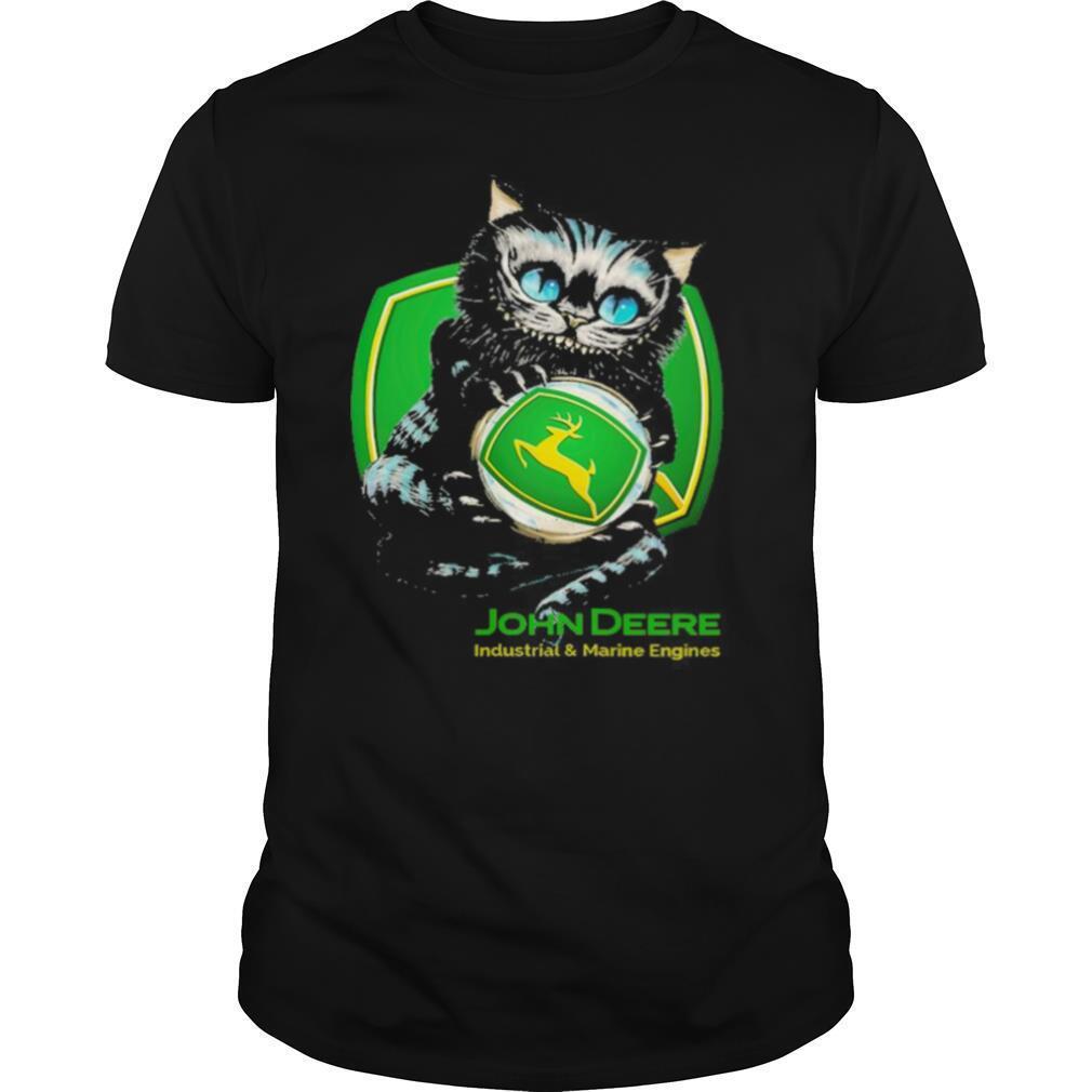 cat hug john deere industrial and marine engines shirt