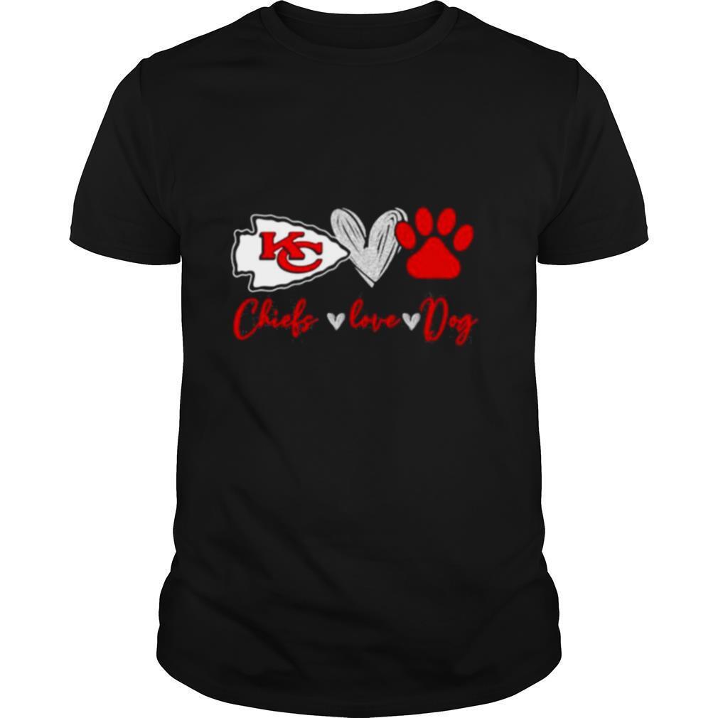 Chiefs Love Dogs Heart Red Football shirt