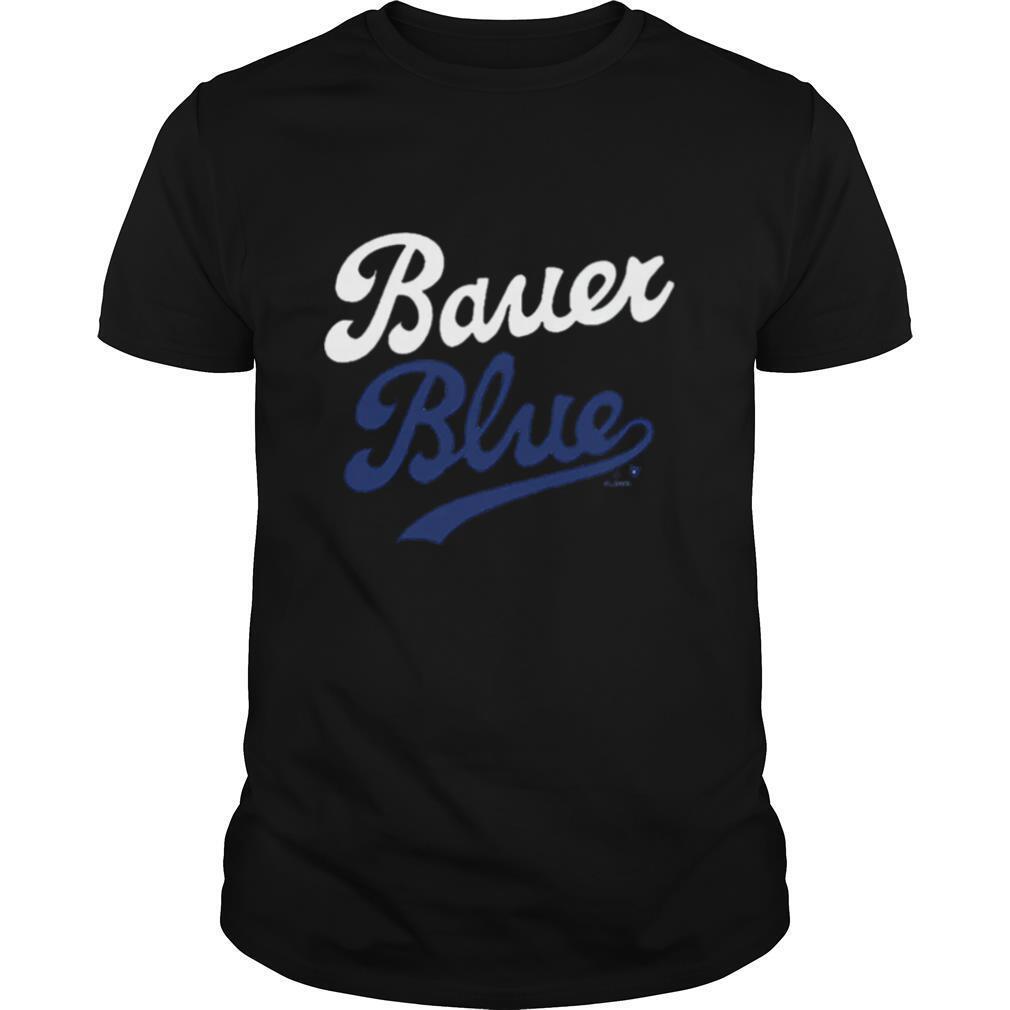 Los Angeles Trevor Bauer Blue shirt