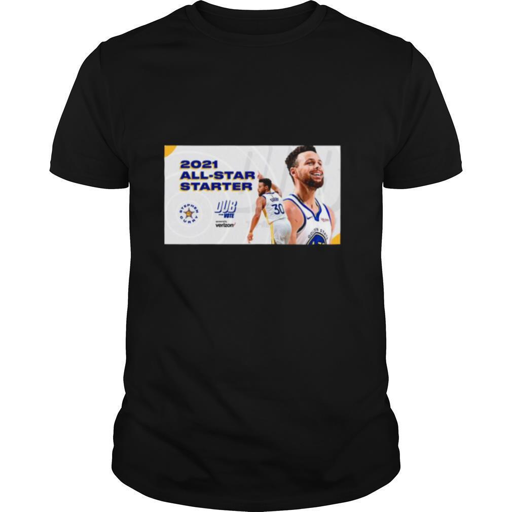 Stephen Curry 2021 All Star Starter Dub the vote sponsored by Verizon shirt