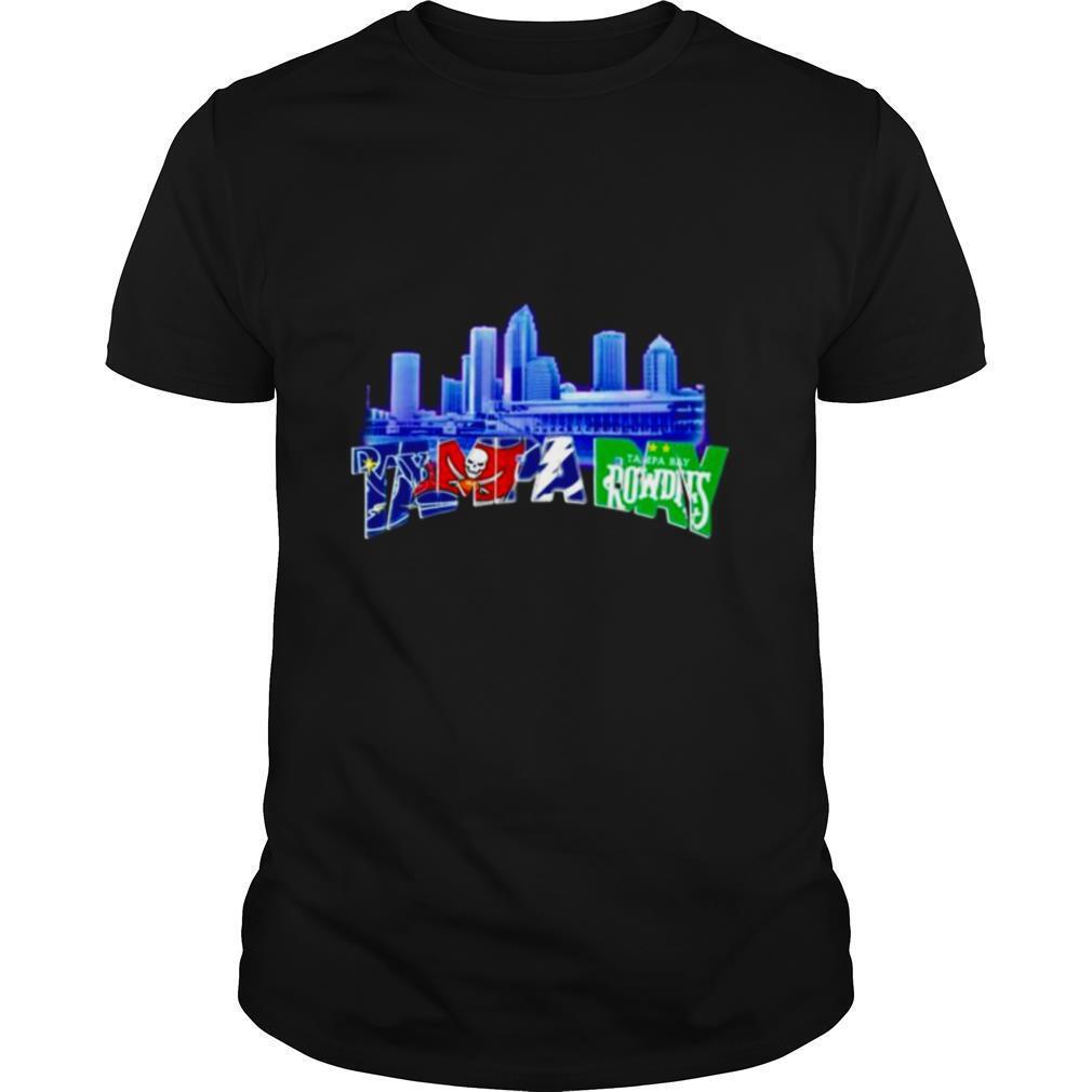Tampa Bay Lightning Tampa Bay Buccaneers Tampa Bay Rays and Tampa Bay Rowdies shirt