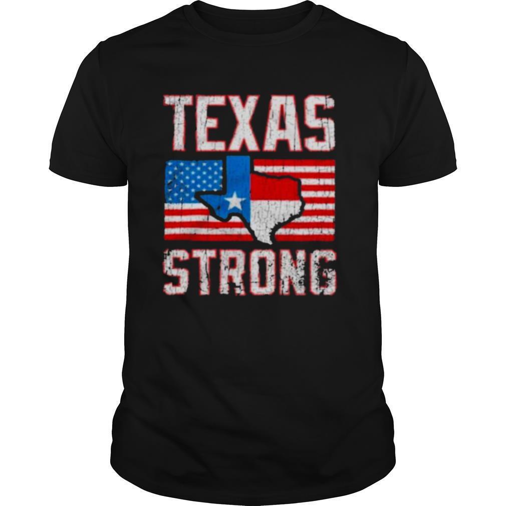 texas strong american flag shirt