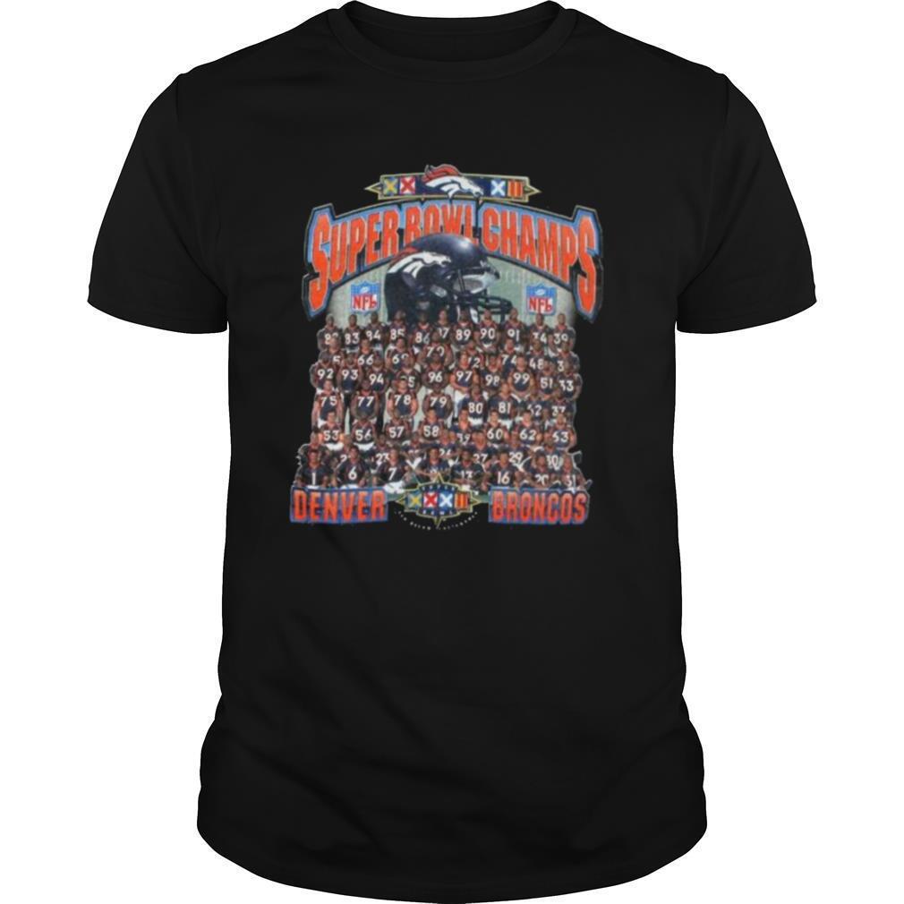 The Super Bowl Champs With Denver Broncos Team Players 2021 shirt