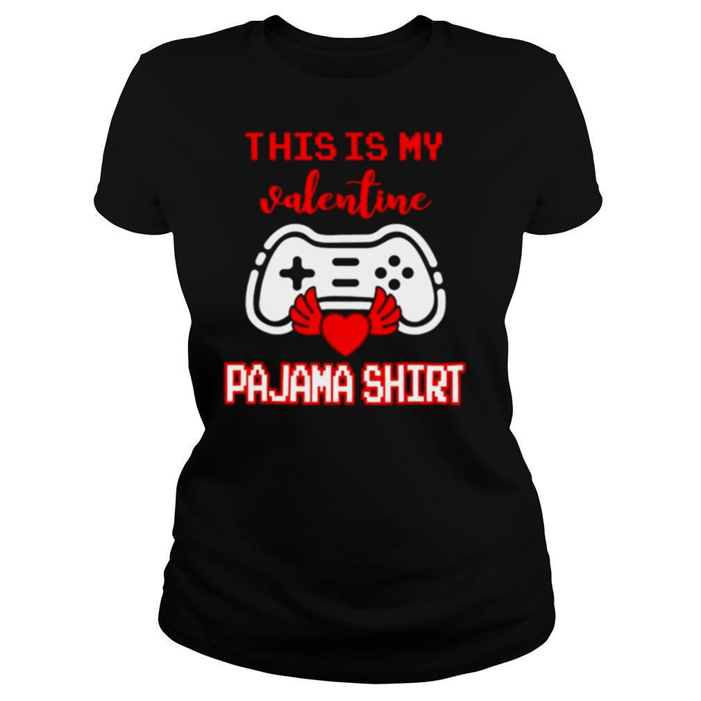 This Is My Valentine Pajama Gamer Video Games Valentine Boys shirt