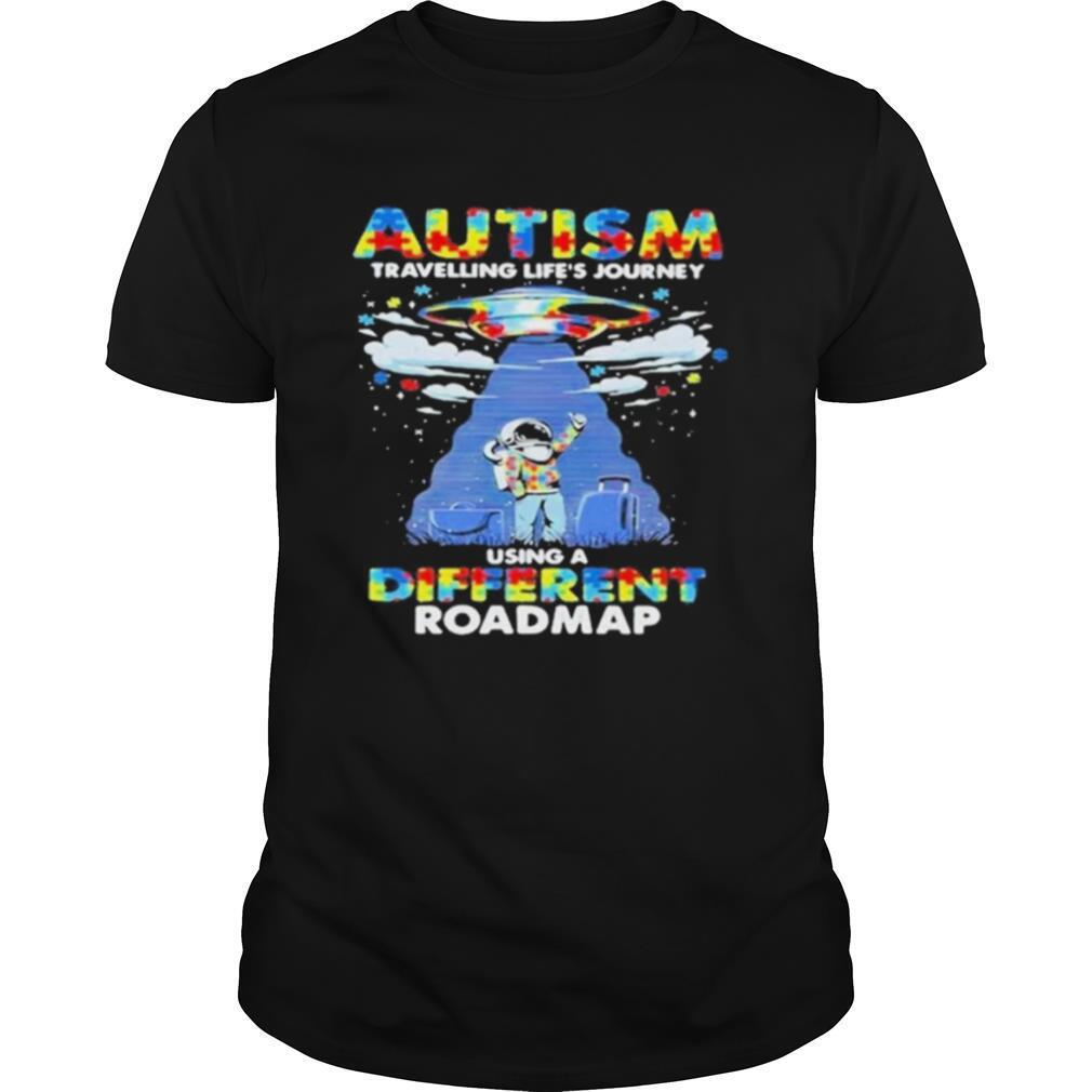 UFO Autism travelling lifes journey using a diferent roamap shirt