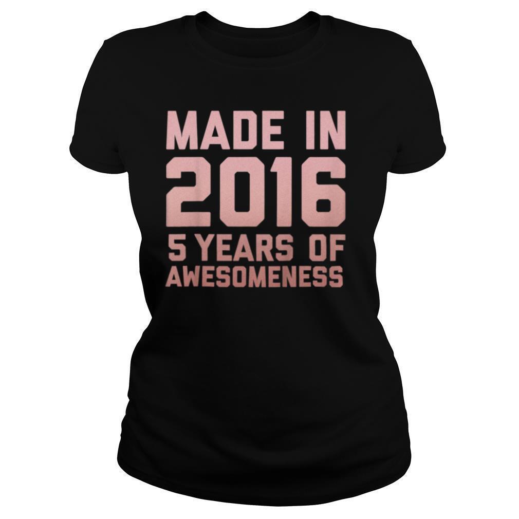 Kids 5th Birthday Shirt Girls Boy Age 5 Year Old Gift 2016 Kids T Shirt