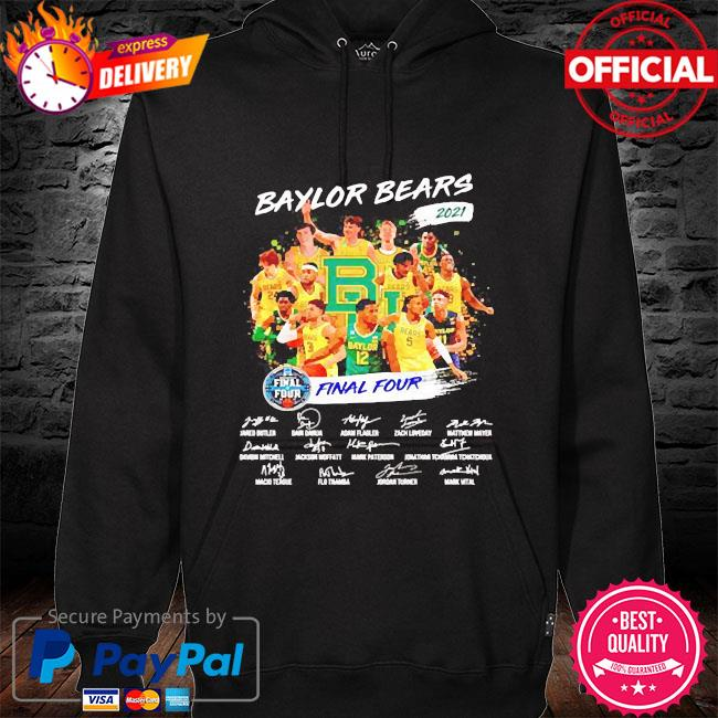 2021 final four baylor bears champions players signatures hoodie black