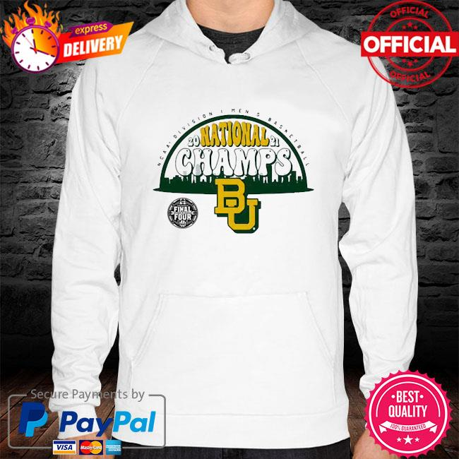 290921 national champs Baylor Bears hoodie white