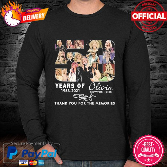 58 years Olivia thank you for the memories signature sweater black