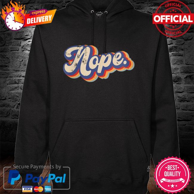 Nope vintage rainbow s hoodie black