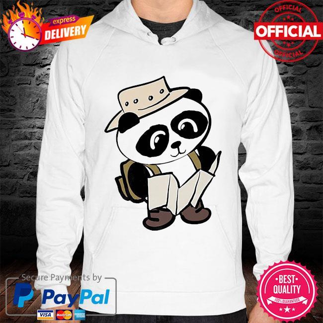 Adventure panda s hoodie white
