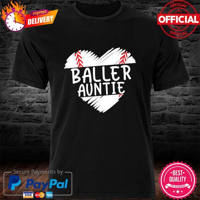 Aunt baseball baller auntie shirt