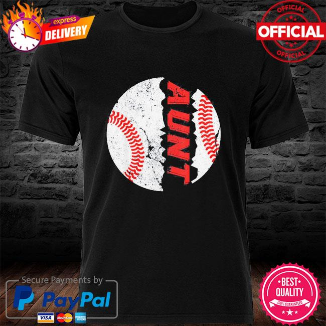 Ball aunt softball baseball mother's day shirt