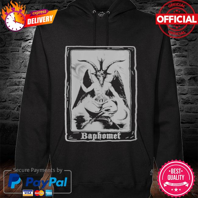 Baphomet shirt occult 666 tarot card satanic dark art evil s hoodie black