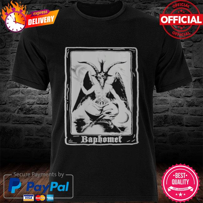 Baphomet shirt occult 666 tarot card satanic dark art evil shirt