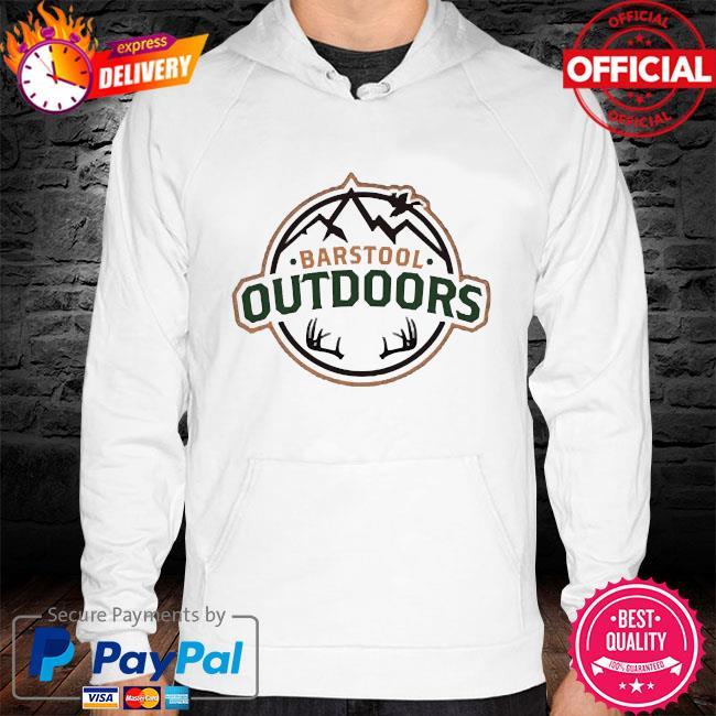Barstool outdoors hoodie white