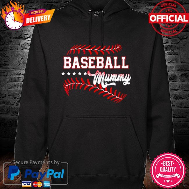 Baseball mummy baseball mummy mothers day s hoodie black