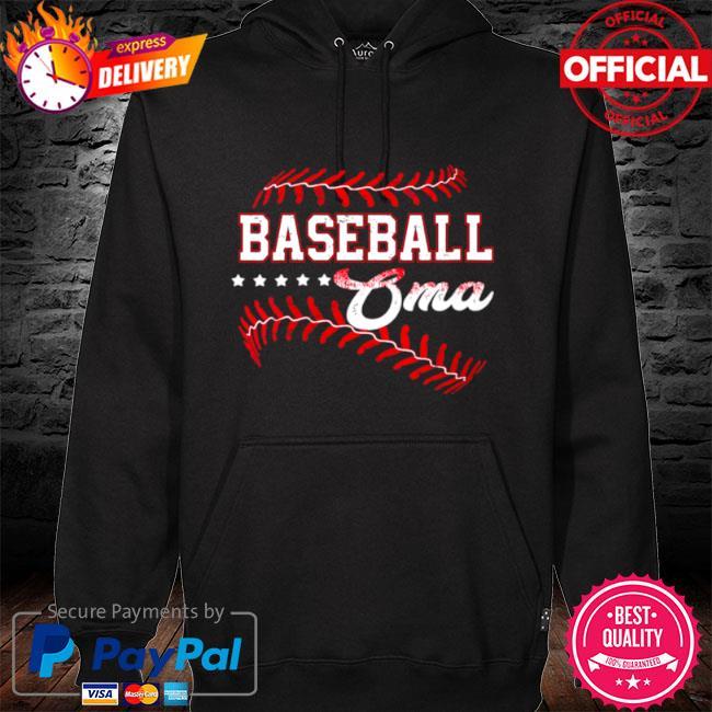 Baseball oma baseball oma mothers day s hoodie black