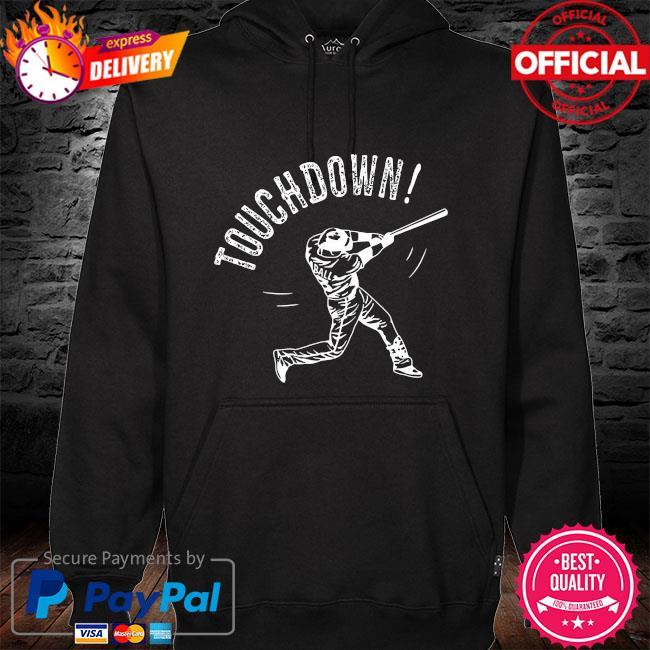 Baseball Touchdown hoodie black