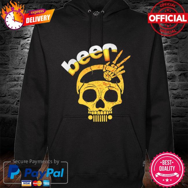 Beer skull s hoodie black