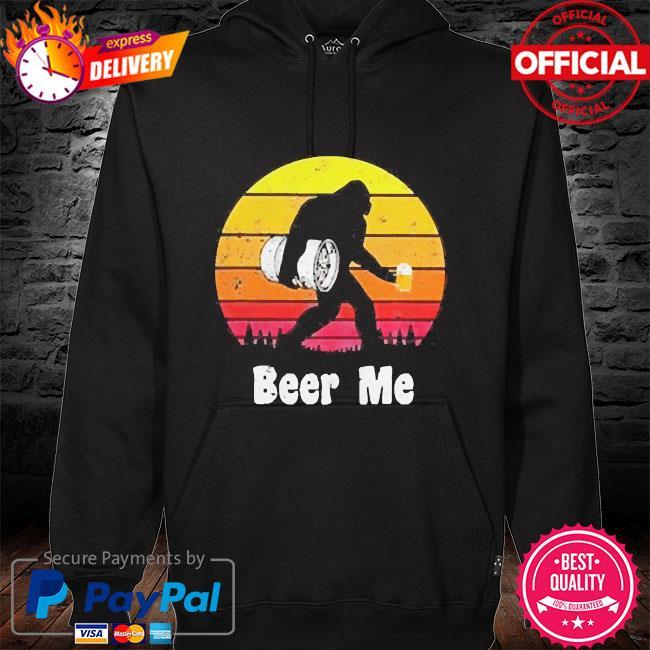 Bigfoot beer me vintage hoodie black