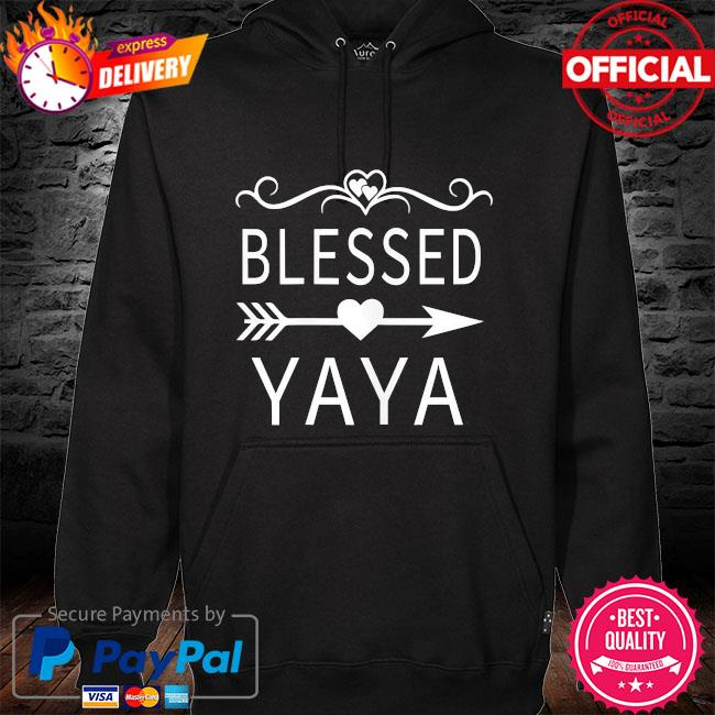 Blessed yaya mother's day hoodie black