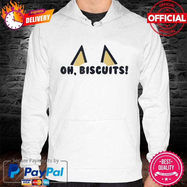 Bluey oh biscuits s hoodie white