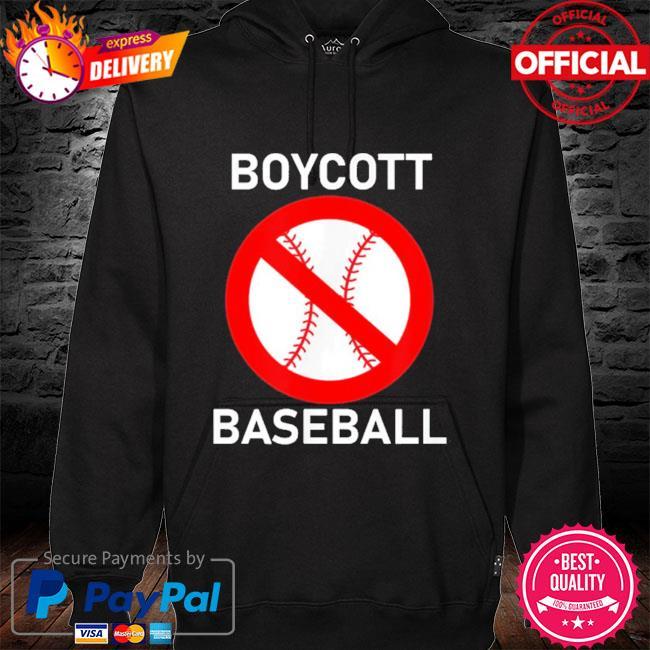 Boycott baseball hoodie black