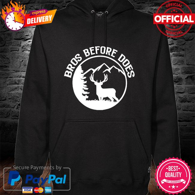 Bros before does bachelor party hoodie black