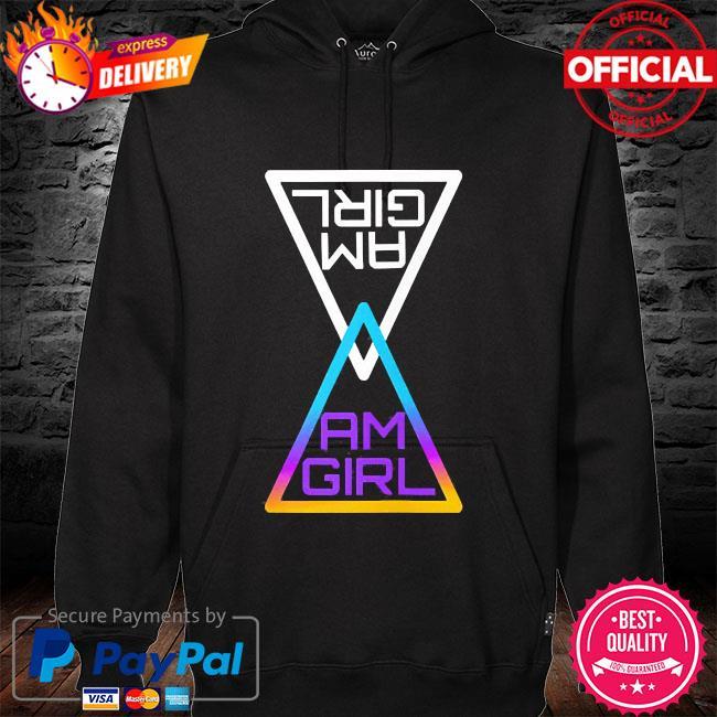 Buy am a girl s hoodie black