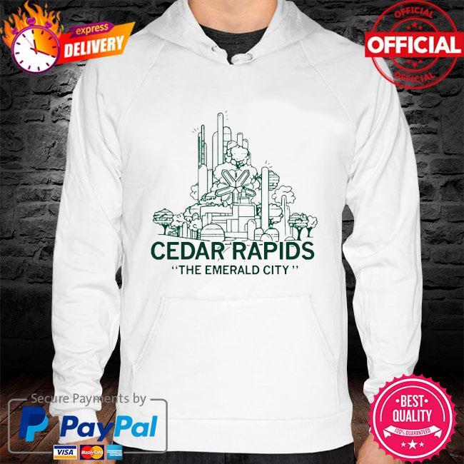 Cedar rapids emerald city 2021 s hoodie white