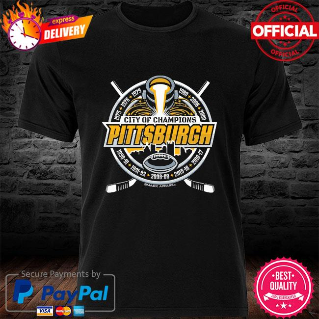 City of champions Pittsburgh football and hockey shirt