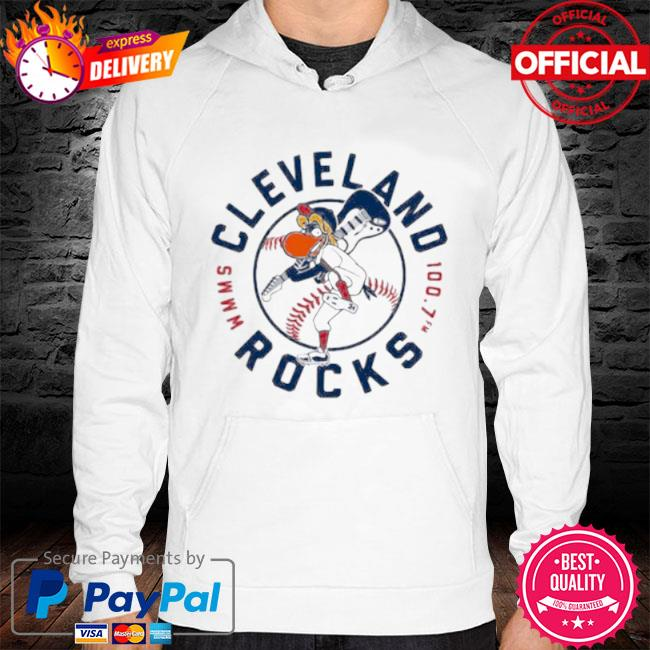 Cleveland rocks baseball s hoodie white