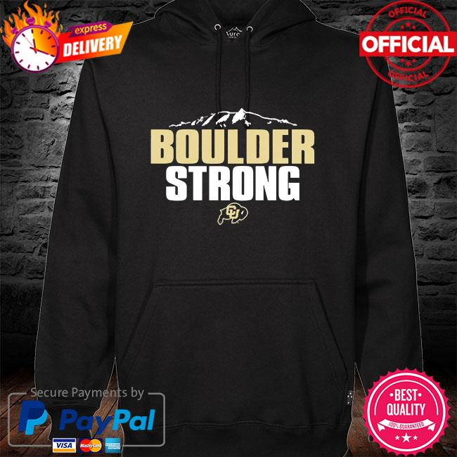 Colorado buffaloes boulder strong hoodie black