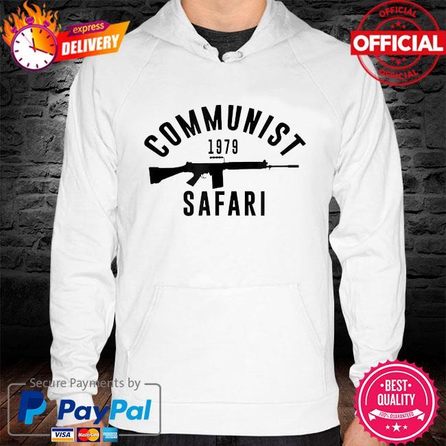 Communist 1979 safari hoodie white