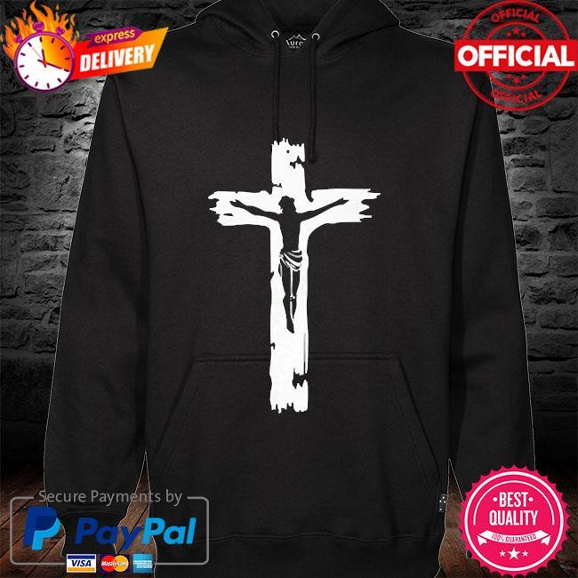Cross Jesus hoodie black