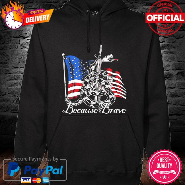Demolition ranch because of the brave veterans day hoodie black