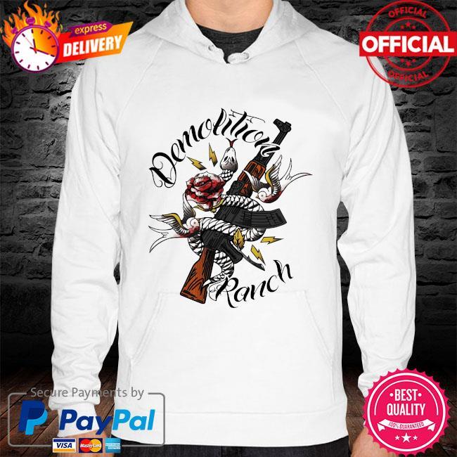 Demolition ranch tattoo hoodie white