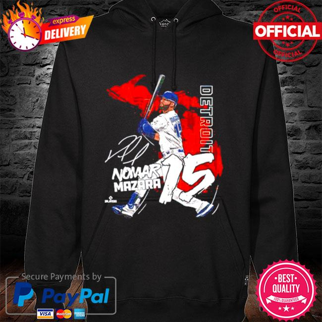 Detroit baseball nomar mazara signature s hoodie black