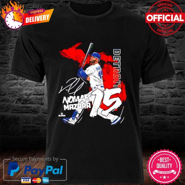 Detroit baseball nomar mazara signature shirt