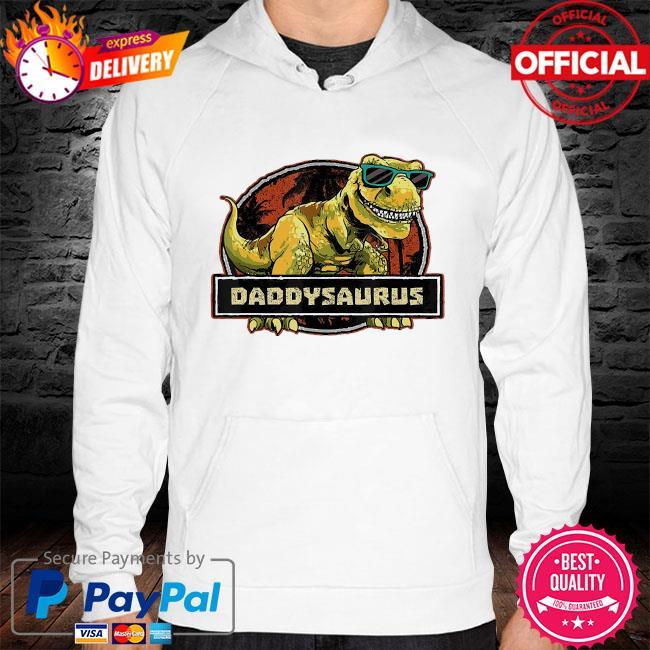 Dinosaur father hoodie white