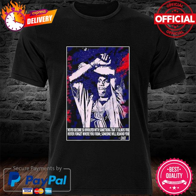 Dmx dark man rapper music shirt