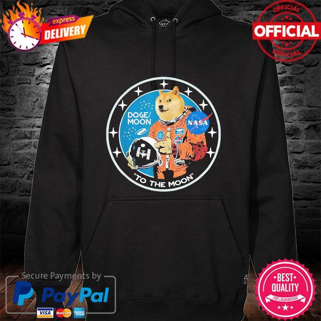 Dogecoin astronaut to the moon blockchain hodl crypto 2021 s hoodie black