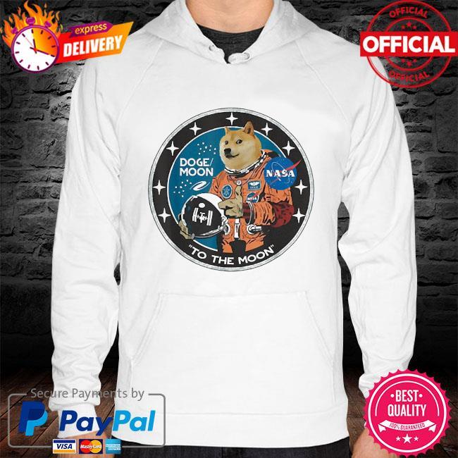 Dogecoin astronaut to the moon blockchain hodl crypto s hoodie white