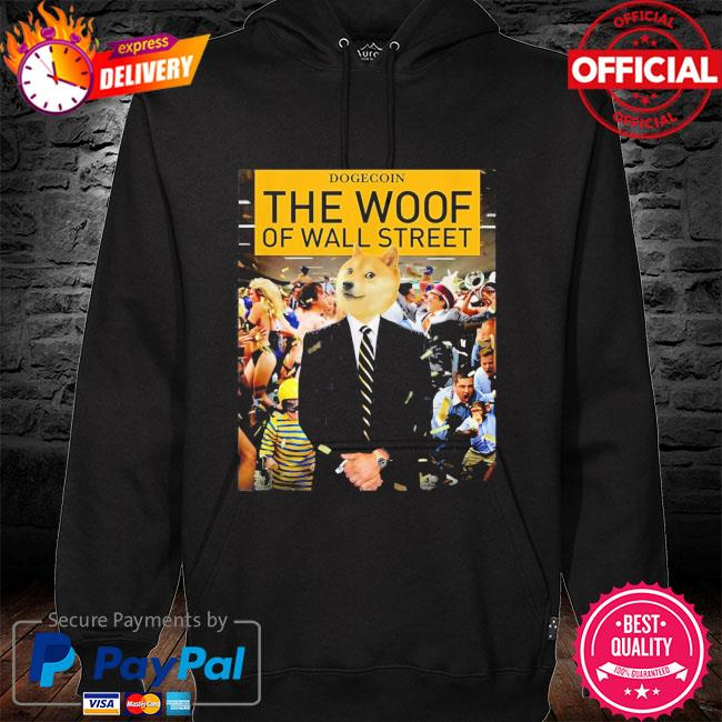 Dogecoin the woof s hoodie black