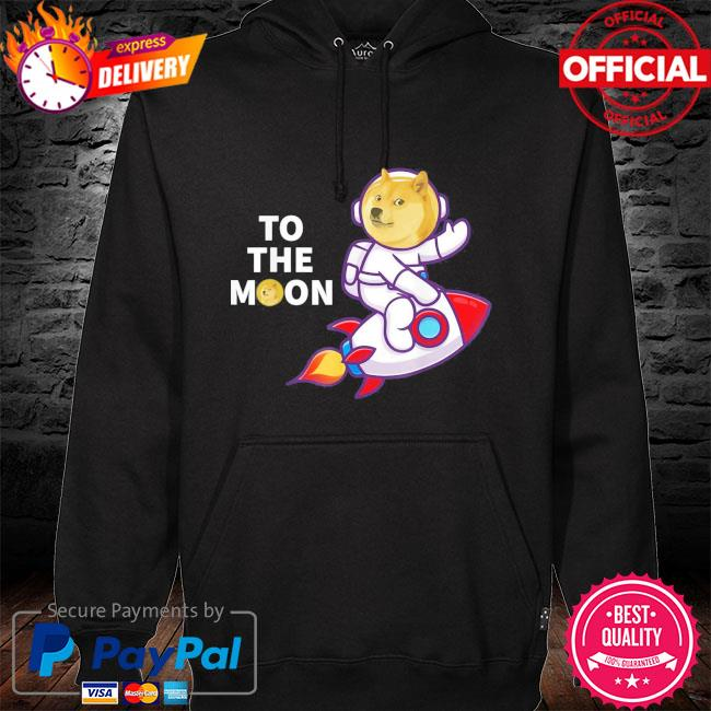 Dogecoin to the moon s hoodie black