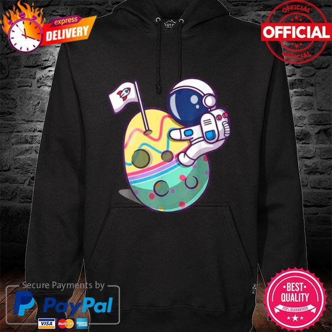 Eggstra terrestrial space astronaut s hoodie black
