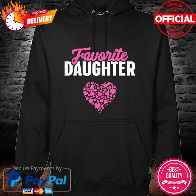 Favorite daughter mother's day hoodie black