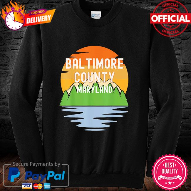 From baltimore county maryland vintage sunset long sleeve black
