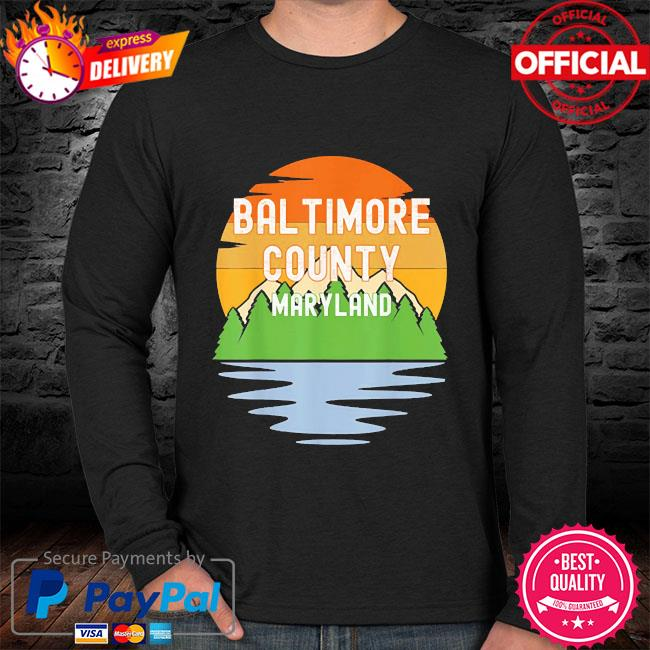 From baltimore county maryland vintage sunset sweater black